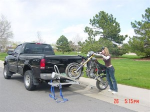 The Tilt-A-Rack Motorcycle Carrier