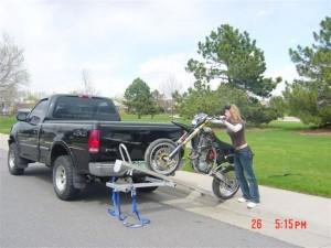 The Tilt-A-Rack Motorcycle Carrier